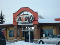 Store front for A&W