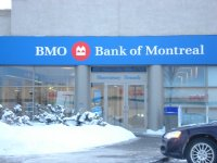 Store front for Bank Of Montreal (BMO)