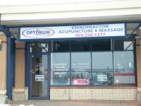 Store front for Optimum Wellness Centres