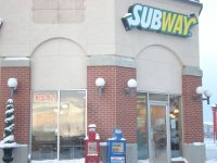 Store front for Subway near Canadian Tire