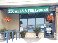 Store front for Victoria's Flowers & Treasures