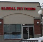 Store front for Global Pet Foods
